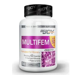 Bigjoy Vitamins - Bigjoy Multifem 50+ Womens Multivitamin 50 Bitkisel Kapsül