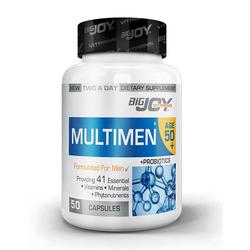 Bigjoy Vitamins - Bigjoy Multimen 50+ Mens Multivitamin 50 Bitkisel Kapsül