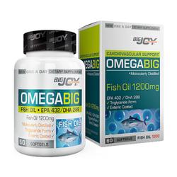 Bigjoy Vitamins - Bigjoy Omegabig Fish Oil 1200 mg 60 Yumuşak Jel Kapsül