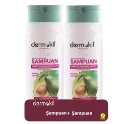 Dermokil - Dermokil Doğal Avokado Özlü Şampuan 400 ml   2li Set