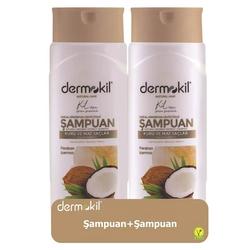 Dermokil - Dermokil Doğal Hindistan Cevizi Şampuan 400 ml   2li Paket