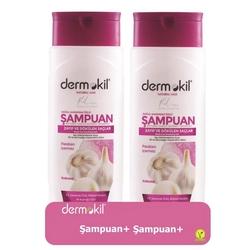 Dermokil - Dermokil Doğal Sarımsak Özlü Şampuan 400 ml   2li Paket