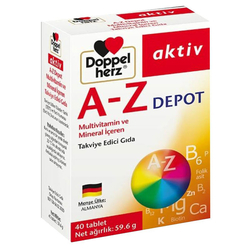 Doppel Herz - Doppel Herz A-Z Depot Multivitamin İçeren Takviye Edici Gıda 40 Tablet