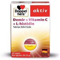 Doppel Herz - Doppel Herz Aktiv Demir + Vitamin C + L-Histidin 30 Tablet