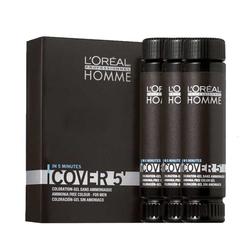 Loreal Professionnel - Loreal Proffesionnel Erkekler için Amonyaksız Renklendirici Jel 3 x 50 ml No:3 Koyu Kestane-Homme Cover