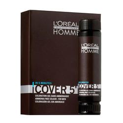 Loreal Professionnel - Loreal Proffesionnel Erkekler için Amonyaksız Renklendirici Jel 3 x 50 ml No:5 Açık Kestane -Homme Cover
