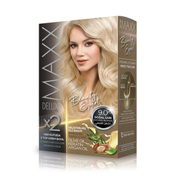 Maxx Deluxe - Maxx Deluxe Krem Saç Boyası 9.0 Doğal Sarı