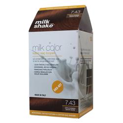 Milk Shake - Milk Shake Milk Color Kalıcı Saç Boyası 7.43 - Orta Kumral Bakır Dore