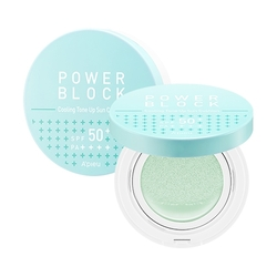 Missha - Missha A'PIEU Power Block Cooling Tone Up Sun Cushion (Centella) SPF50+, PA++++ 14 g