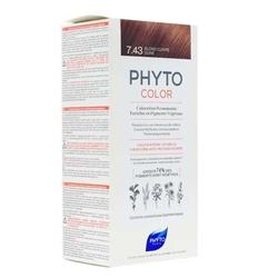 Phyto Saç Bakım - Phyto Phytocolor Bitkisel Saç Boyası 7.43 - Kumral Bakır Dore Yeni Formül