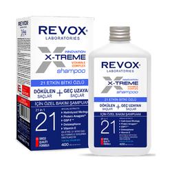 Revox - Revox X-Treme Dökülen Saçlar İçin 21 Etkin Bitki Özlü Şampuan 400 ml