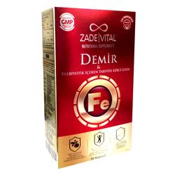 Zade Vital - Zade Vital Demir ve Prebiyotik İçerikli Takviye Edici Gıda 30 Kapsül