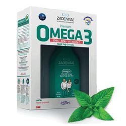 Zade Vital - Zade Vital Premium Omega3 Nane Aromalı Balık Yağı Şurubu 100ml